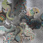 Zeepaardjes mozaïeken bij Mozalyn