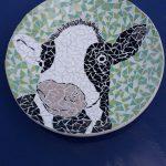 Mozaïek schaal koe
